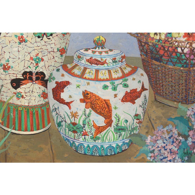 Blue Chinoiserie Still Life by John Powell For Sale - Image 8 of 13