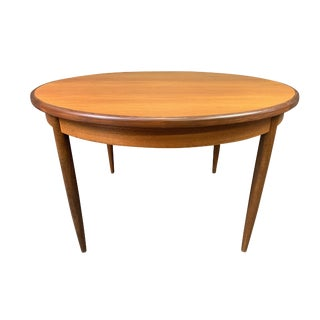 1960s Mid Century Modern G Plan Teak Round Dining Table For Sale