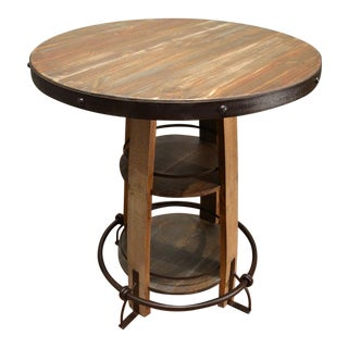 Crafters and Weavers Bayshore Multi-Color Pub Table For Sale