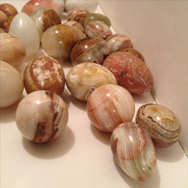 Wood, Marble & Alabaster Eggs - Set of 25 For Sale - Image 4 of 5
