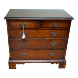 Image of Small Antique English Burlwood Veneer Chest For Sale