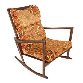 1960s Vintage Original Ib Kofod-Larsen Rocking Chair For Sale