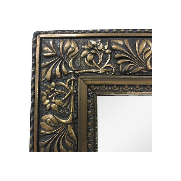 Raised Relief Floral Gilt & Gesso Mirror - Image 2 of 4