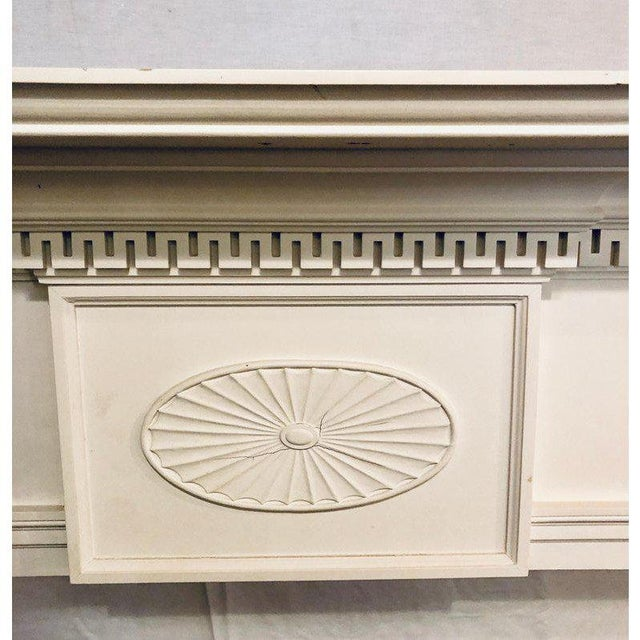 Neoclassical Monumental Hand Carved Fire Place Surrounds - a Pair For Sale - Image 9 of 13