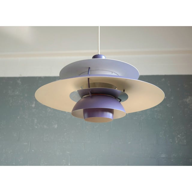 Poul Henningsen for Louis Poulsen Purple Model PH-5 Pendant Lamp - Image 5 of 7