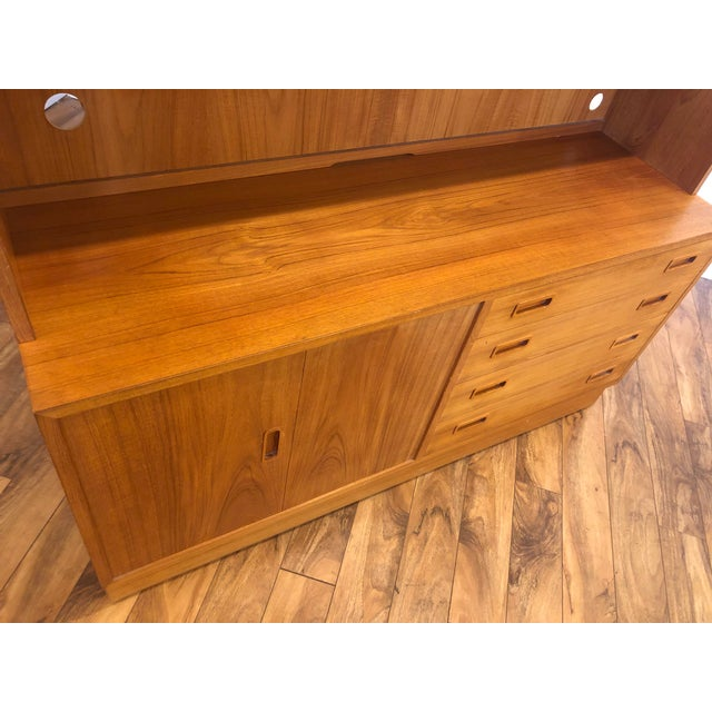 Poul Hundevad Teak Sideboard With Display Hutch For Sale In Seattle - Image 6 of 10