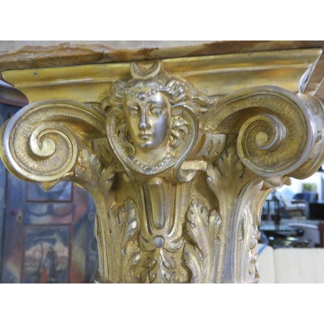 Regency Style Marble / Onyx Pedestal For Sale In Philadelphia - Image 6 of 9