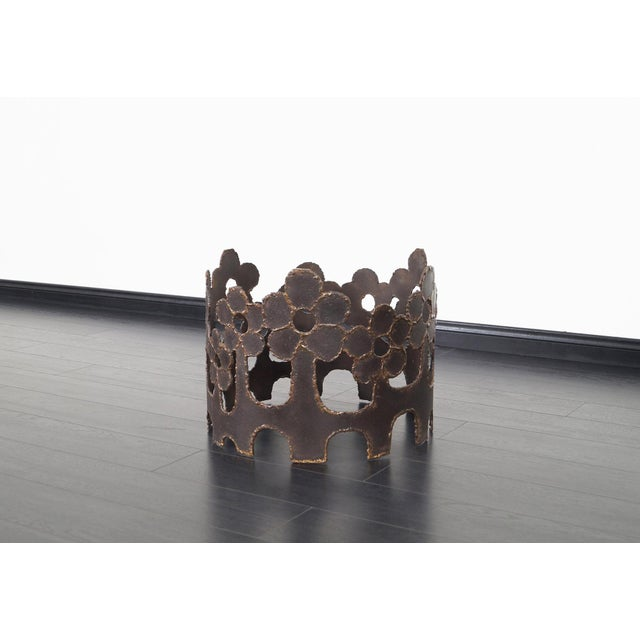 Metal Vintage Bronze Coffee Table For Sale - Image 7 of 10