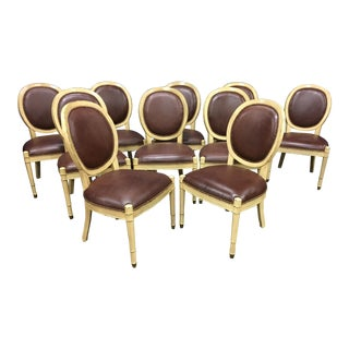 Baker Oval Back Side Chairs - Set of 10 For Sale