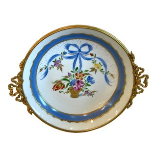 20th Century French Limoges Hand Painted Parisian Decorative Dish For Sale