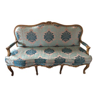 Early 20th Century Vintage Restored Settee For Sale