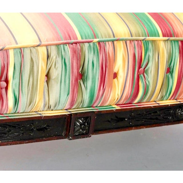 19th Century Spanish Sofa With Turned and Carved Frame - Image 8 of 10