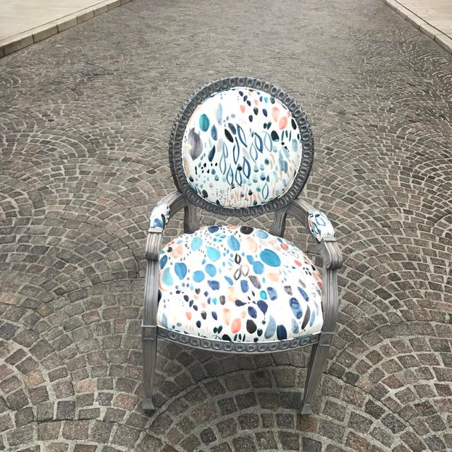 Louis XVI Grey Chair For Sale In Los Angeles - Image 6 of 8
