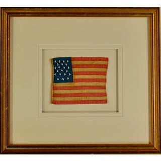19th Century Americana Framed 21 Star Flag For Sale