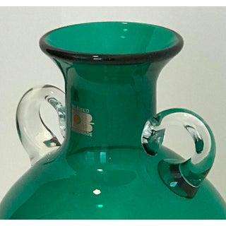 Vintage Blenko Blown Glass Emerald Vase Carafe Preview