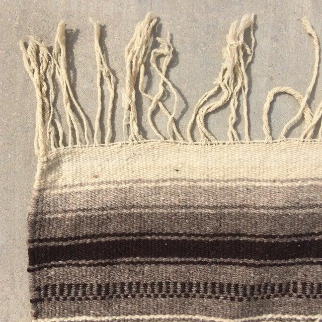 """Vintage Navajo Style Blanket Rug - 4'9"""" X 9"""" - Image 7 of 10"""