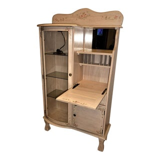 Secretary Desk & Curio Cabinet