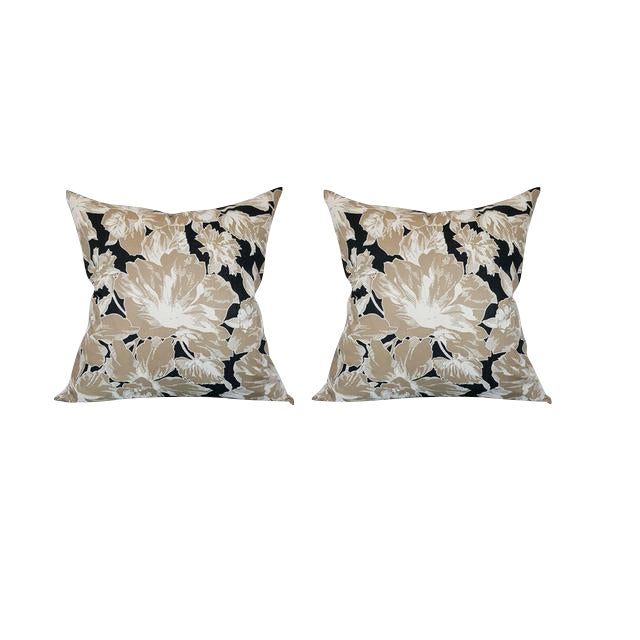 Vintage Floral Throw Pillows - A Pair - Image 1 of 6