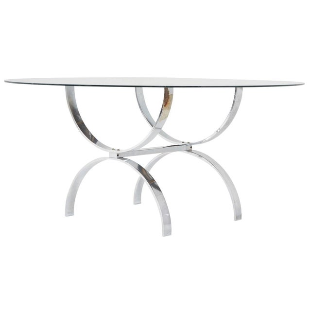 Pace Style Glass and Chrome Coffee Table - Image 1 of 7