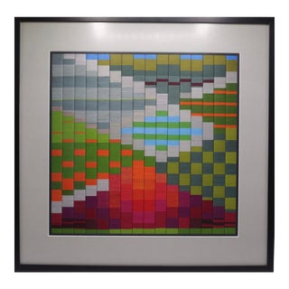 Framed Embroidery Textile Art Panel by Constance Howard For Sale