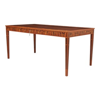 Carl Malmsten Desk with Brazilian Rosewood Inlay. For Sale