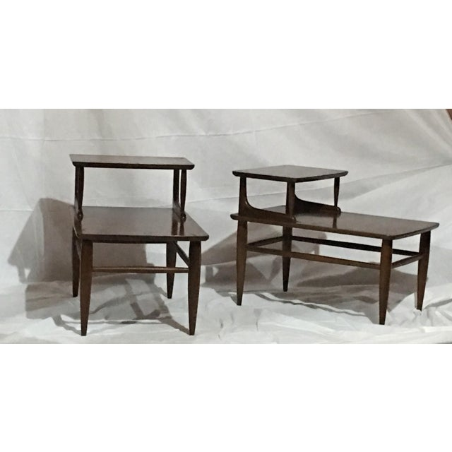 Danish Mid-Century Walnut End Tables - A Pair For Sale - Image 4 of 6
