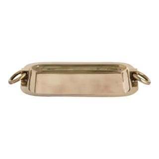 Arteriors Brass Bordeaux Accent Serving Tray For Sale
