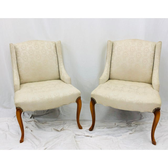 French Pair Vintage French Style Side Chairs For Sale - Image 3 of 12