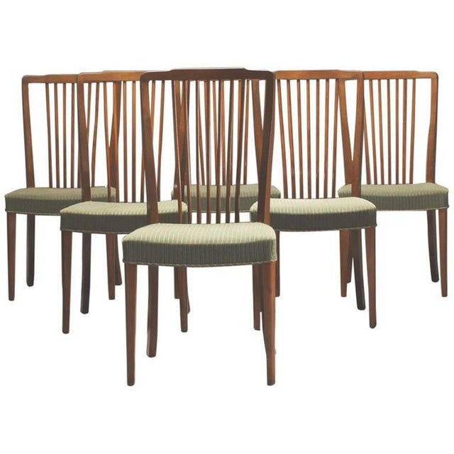 Danish Modern Danish Modern Spindle Back Dining Chairs - Set of 6 For Sale - Image 3 of 4