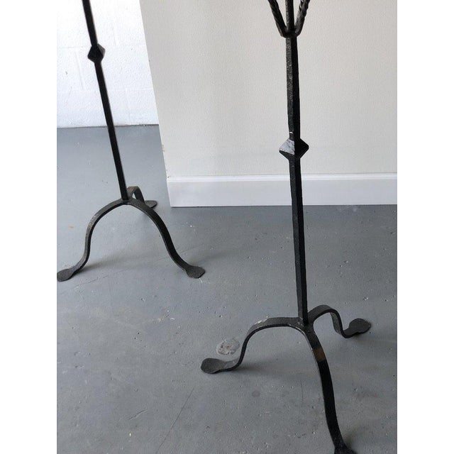 """Pair of 20th C. Spanish Torchieres Height: 60"""" Dia: 16.5"""""""
