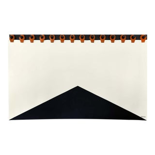 Summit Headboard Tapestry by Moses Nadel in Black, Cream and Saddle For Sale