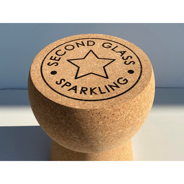 Wood Champagne Cork Stool/Side Table For Sale - Image 7 of 13