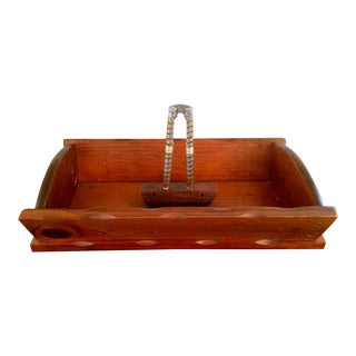 Wooden Tray With Nut Cracker For Sale