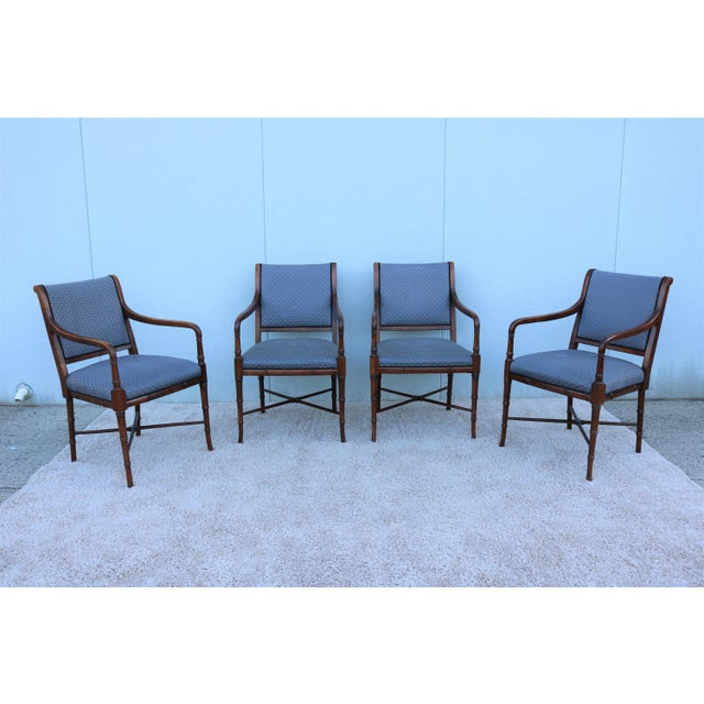 18th C. Southwood Furniture Vintage Mahogany Armchairs - Set of 4 For Sale - Image 13 of 13