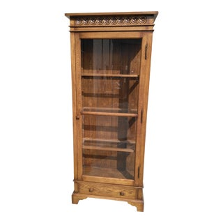 Traditional Oak Display Cabinet For Sale