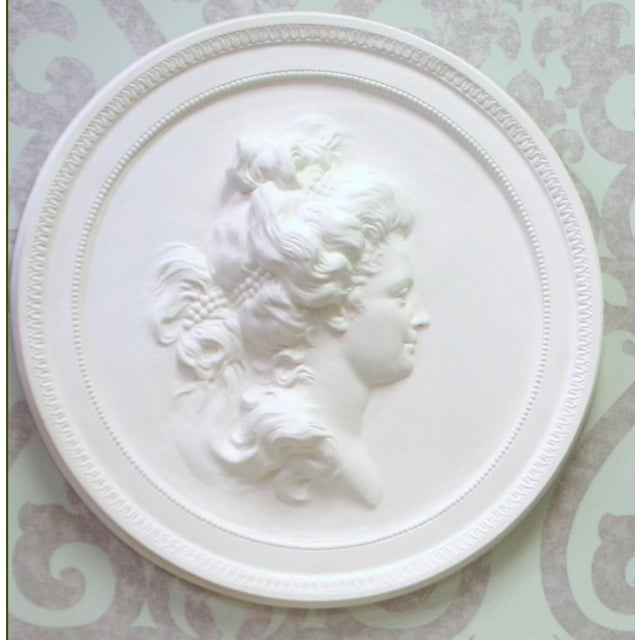 Gustavian (Swedish) Swedish Plaster Portrait Medallion For Sale - Image 3 of 4