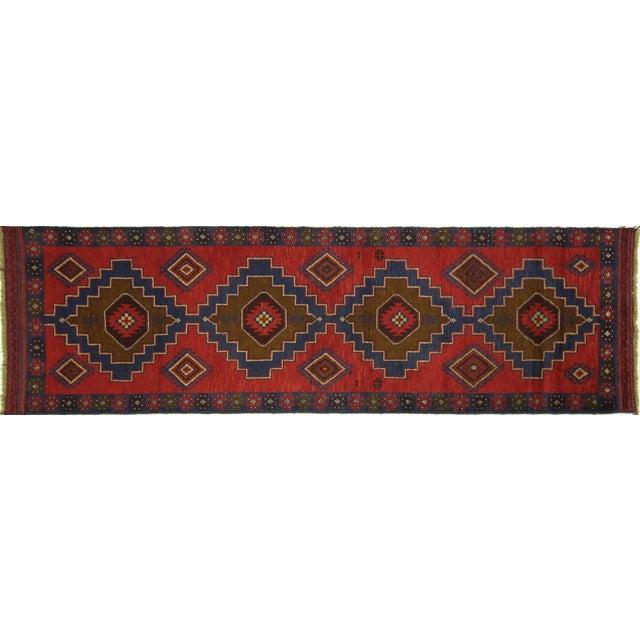 "Persian Tribal Baluch Runner Rug - 2'6"" x 9' - Image 1 of 7"