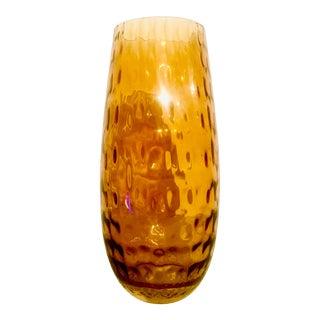 Mid-Century Modern Amber Optical Vase For Sale