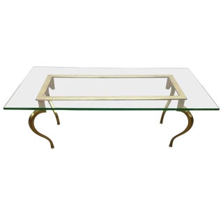 French Bronze Coffee Table by Maison Ramsay For Sale
