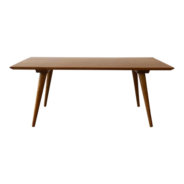1950s Compact Paul McCobb Solid Maple Coffee Table For Sale