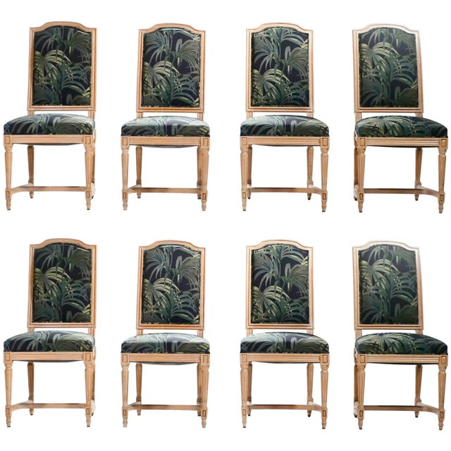 Set of Eight Louis XV Style Chairs, 1950s For Sale - Image 11 of 11