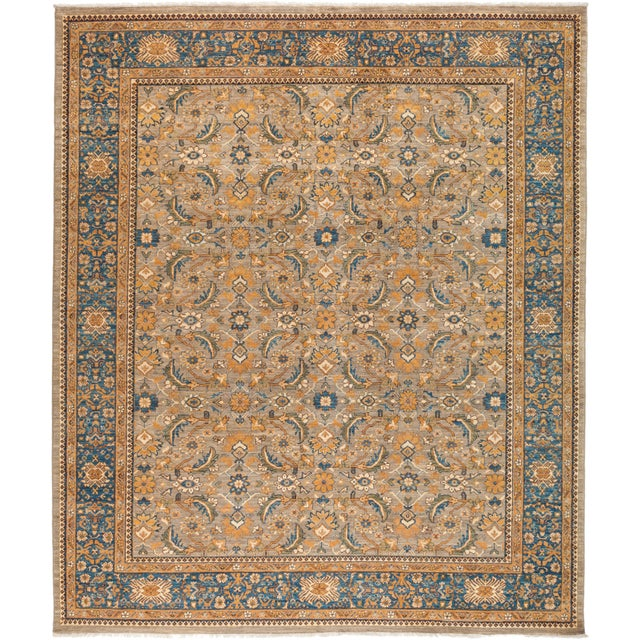 "Ziegler Hand Knotted Area Rug - 8' 4"" X 9' 8"" For Sale - Image 4 of 4"