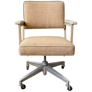 Pair of 1970s Steelcase Office Chairs, Refinished For Sale