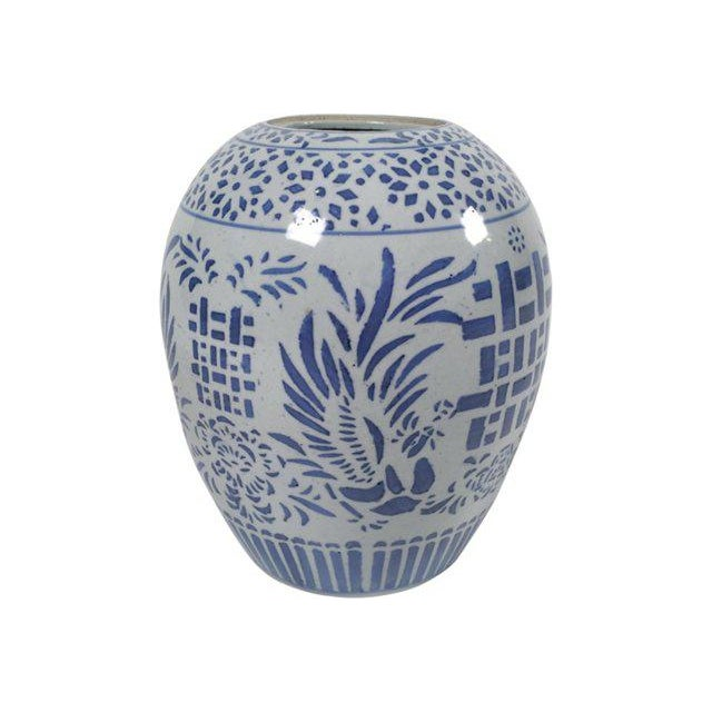 Asian Blue & White Ginger Jar For Sale - Image 3 of 5
