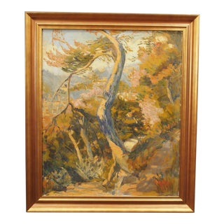 Impressionist Landscape Painting, Signed Ch. Andreani For Sale