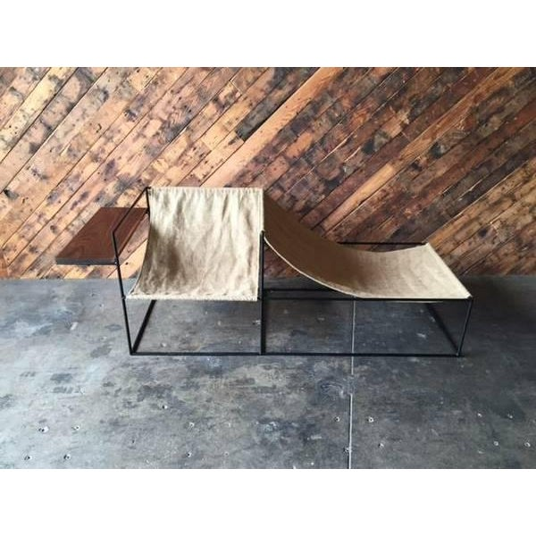 Modern Wrought Iron Chair Lounger - Image 6 of 6
