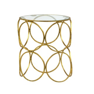 Gold Sphere Side Table