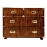 Image of 1970s Vintage Henredon Four Drawer Campaign Chest For Sale