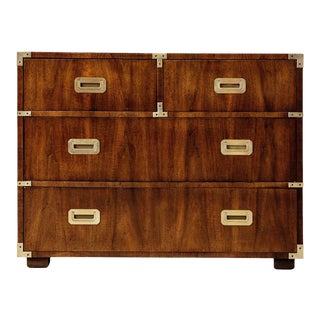 1970s Vintage Henredon Four Drawer Campaign Chest For Sale