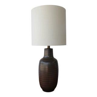 Mid Century Studio Ceramic Table Lamp by Lee Rosen for Design Technics, 1960s. For Sale
